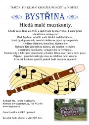 Folklorní soubor Bystřina ze Zlivi - Hledáme malé muzikanty