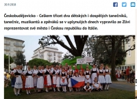 Folklorní soubor Bystřina ze Zlivi - Hlubocké mažoretky a Folklorní soubor Bystřina tančily v Itálii - Deník 2018